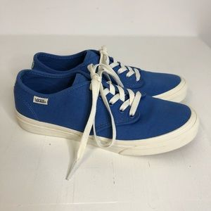 Vans Blue with Striped Heel Lace Up Sneakers